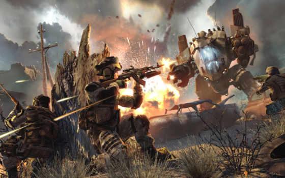warface, монстр, битва, картинка, робот, crytek, игра, картинку, вертикали, горизонтали, имеет,