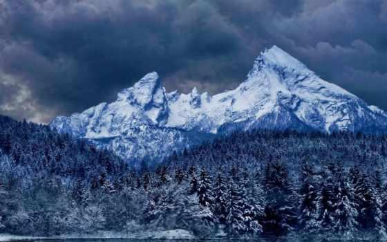 озеро, горы, природа
