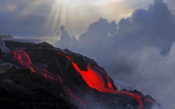 лава, вулкана, извержение, вулкан, магма,