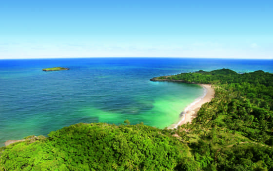 ocean, пальмы, острова