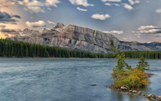 горы, река, красивые, леса, канадский, новости, noname, чаще, reki, озера,