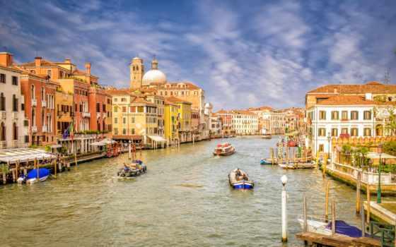 venezia, города, канал, italian, дома, venice, город, картинка, water,