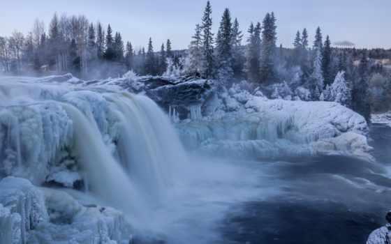 лед, winter, природы, водопад, природа, красоты, пост, снег,