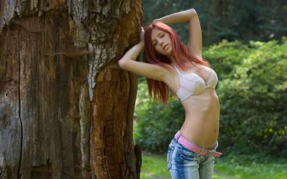 джинсы, лифчик, девушка, плакат, sexy, art, hot, print, redhead, txhome, aliexpress,