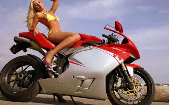 мотоцикл, девушка, заставка