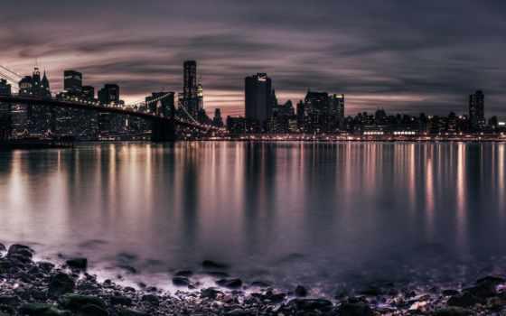 город, река, мосты