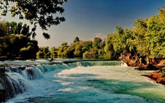waterfalls, водопады, priroda