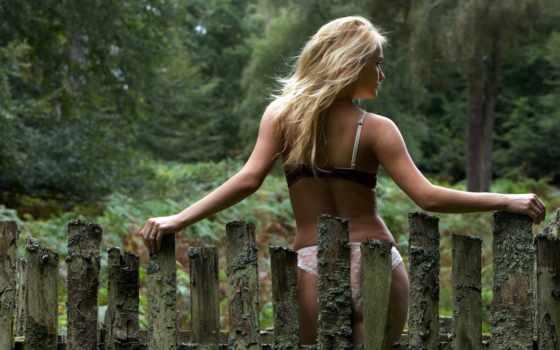забор,, девушка, блондинки, blonde,,