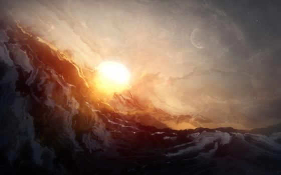 sun, луна, art