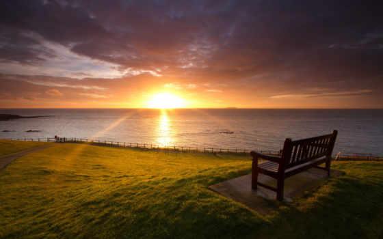 шотландия, пляж, landscape