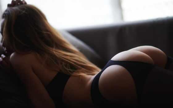девушка, массаж, красивый, ass, bodya, lower, день, обнаженная, белье, девка