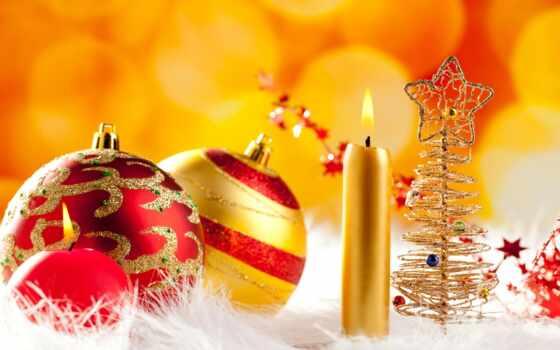 свечи, новый, год, рождество, шарики, праздник, картинка, nen, hinh, новогодние, елочка, игрушки,