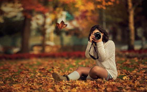 tapety, jesień, kobieta, aparat, użytkownika, pulpit, fotograficzny, darmowe, tapeciarnia, fatih,