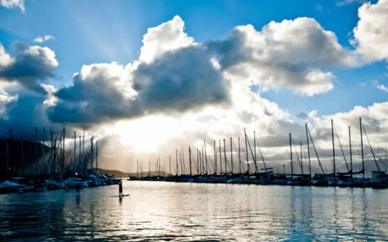 yachts, harbor