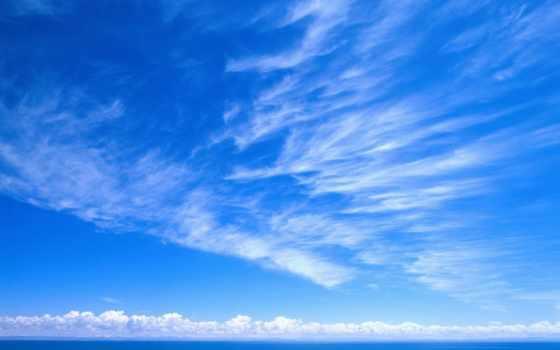 небо, облака, взгляд