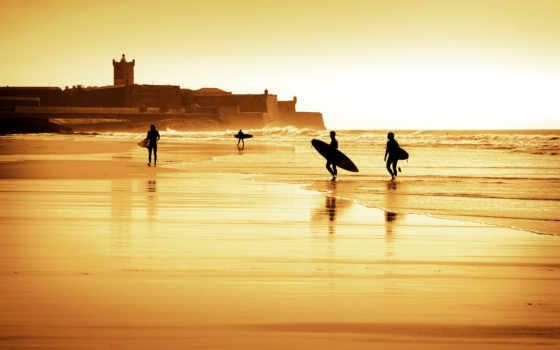 carcavelos, surf, португалия, пляж, cascais, uma, общага,