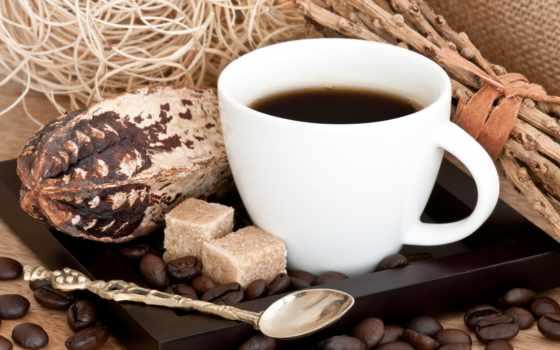 coffee, cvety, поднос, cup, ваза, подушки, juice, кровать, кружка, зерна, завтрак,