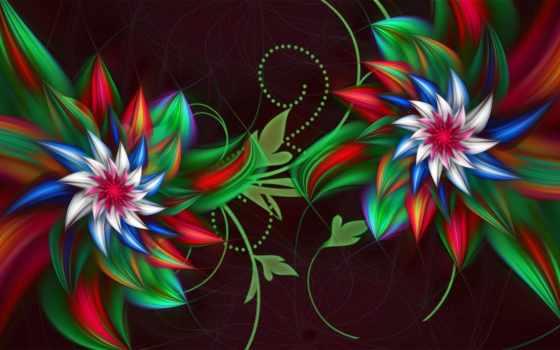 flowers, cvety, абстракция, цветы, full, картинка, fractal, abstract,