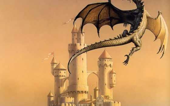 дракон, вышивки, castle, схема,
