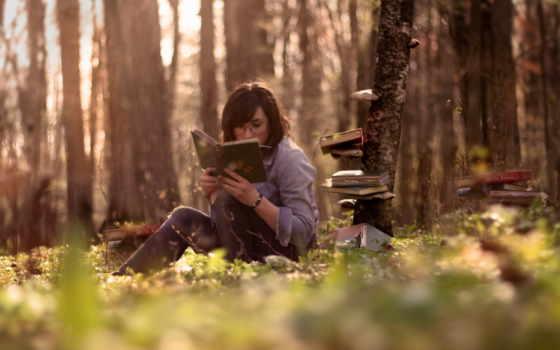 книги, девушки, книга