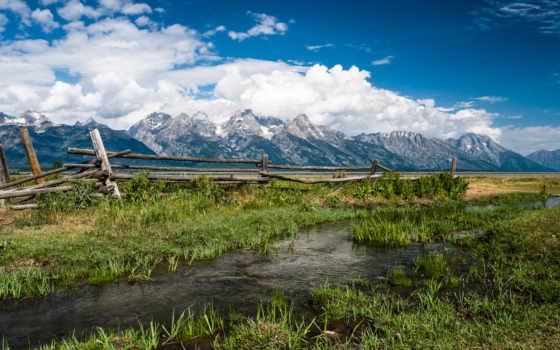 wyoming, usa, grand, teton, park, national, tetons, mountains, природа,