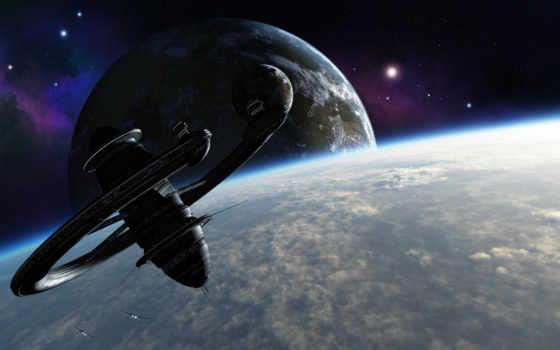космос, станция, sci, взгляд, click, size, биг,