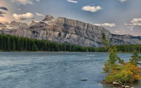 природа, природой, канадский, телефон, горы, шпалери, озера, природы, tape, landscape,