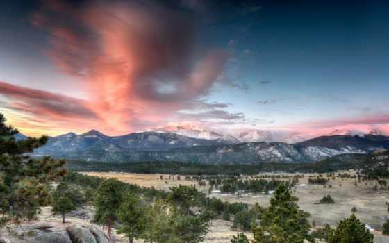 скалистый, гора, national, park, mountains, colorado,