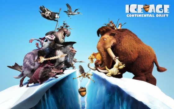 glaciale, era, continenti