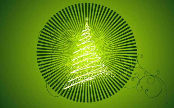 árvore, verde, natal