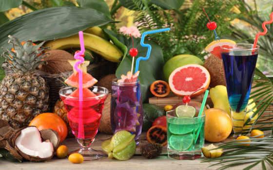 water, ягоды, фрукты, производить, жидкий, напитки, коктели,