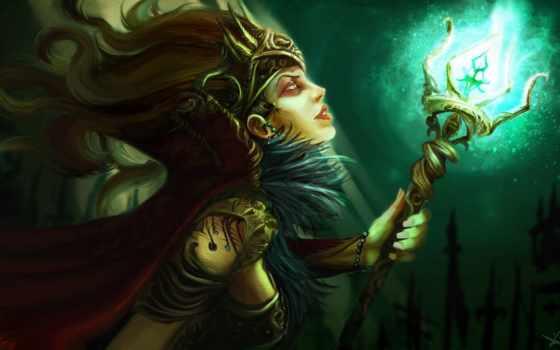 witch, online, магия, custom, mtg, посох, world, января, фантастика, deviantart,