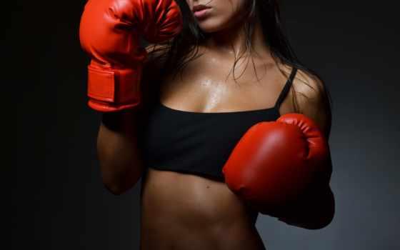 девушка, boxing, перчатки, спорт, боксерские, тренировочный, девушек, boxer,