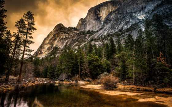 california, yosemite, природа