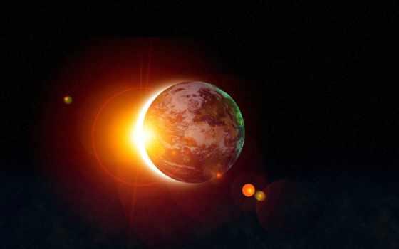 sun, land, eclipse, солнца, cosmos, планеты, planet, луна,
