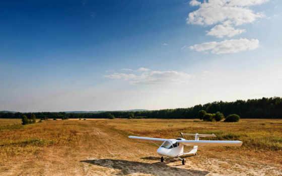 aviones, fondos, pantalla, para, поле, avioneta, самалет, fondo, aeroplano, landscape,