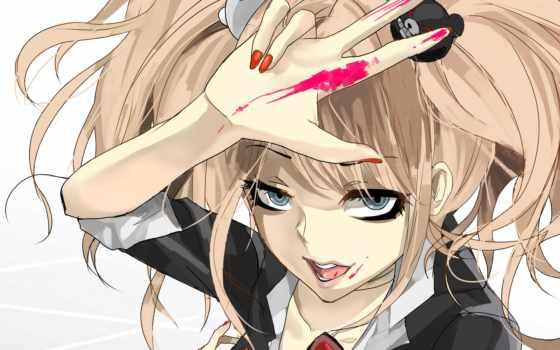 danganronpa, anime, девушка, автор, лицо,