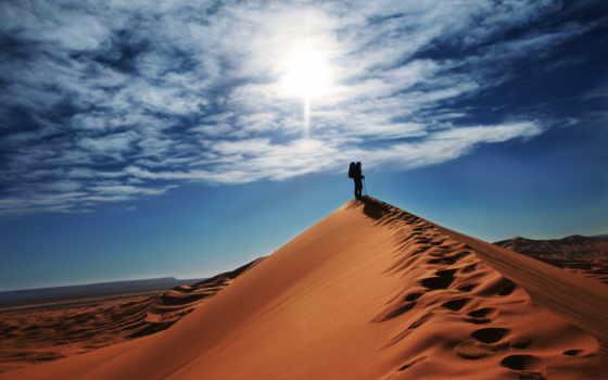 облака, desktop, blue, песок, бесплатные, первый, пустыне, desert, tle, zdjęcia, путник, fb, самомотивации, дюны, важный,