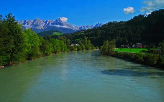 bischofshofen, природа, reki, картинка, die, красивая, salzburg,