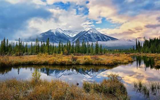 горы, природа, лес, озеро, отражение, water, фотографий, дымка, favourite, природы, trees,