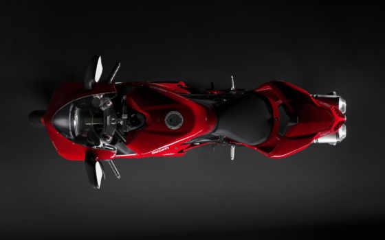ducati, red, мотоцикл