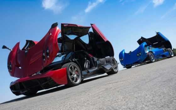red, pagani, blue, макро, суперкары, desktop, getbg, машины, кинозвезды,