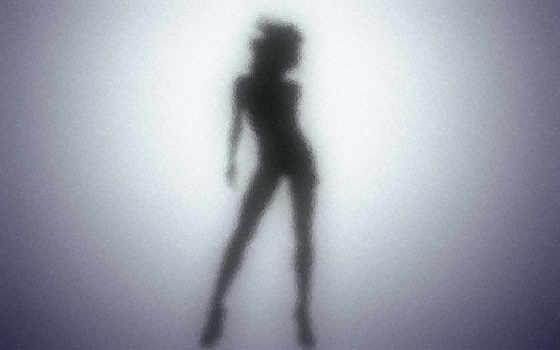 силуэт, за, женский, девушка, стеклом, devushki, glass, силуэты,