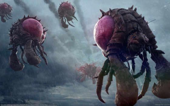 монстры, насекомые, жуки, starcraft, nathan, boyd, полет, art, дождь, пришельцы,