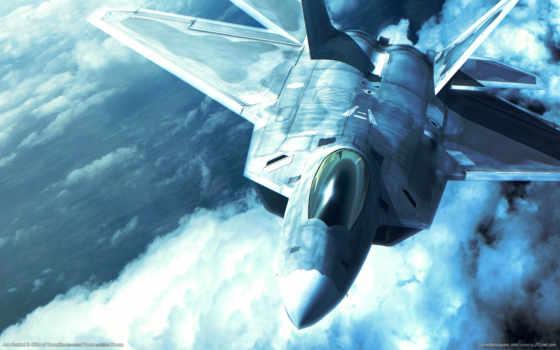 combat, raptor, ace, истребитель, plane, небо, military, desktop, hintergrundbilder, download,
