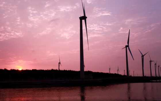 розовый, ветряки