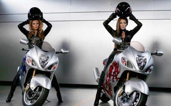 devushki, мото, мотоциклы