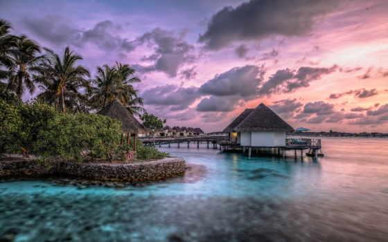 природа, красивые, ocean, природы, tropics, подборка, бунгало, красивых, острова,