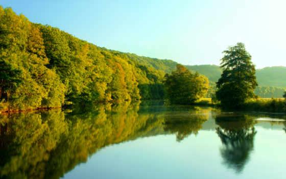 озеро, природа, лесное, февр, области, отдыха, красивые, яркие, площадь, пензенской,