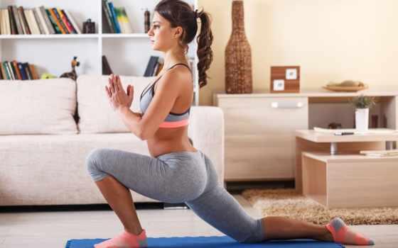 йога, les, stock, las, images, attractive, position, pour,